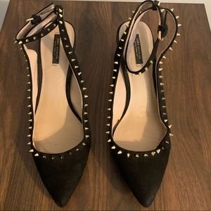 "Zara Woman 2"" pump with sassy spikes"
